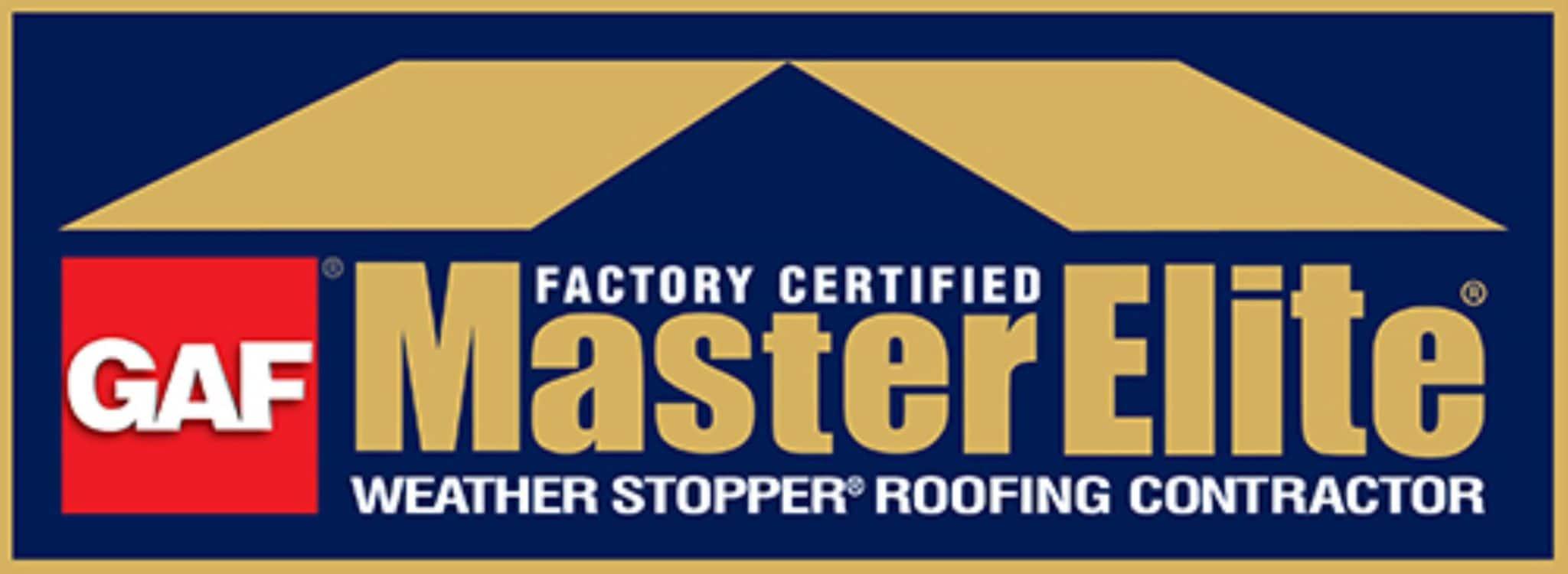 GAF Master Elite certified