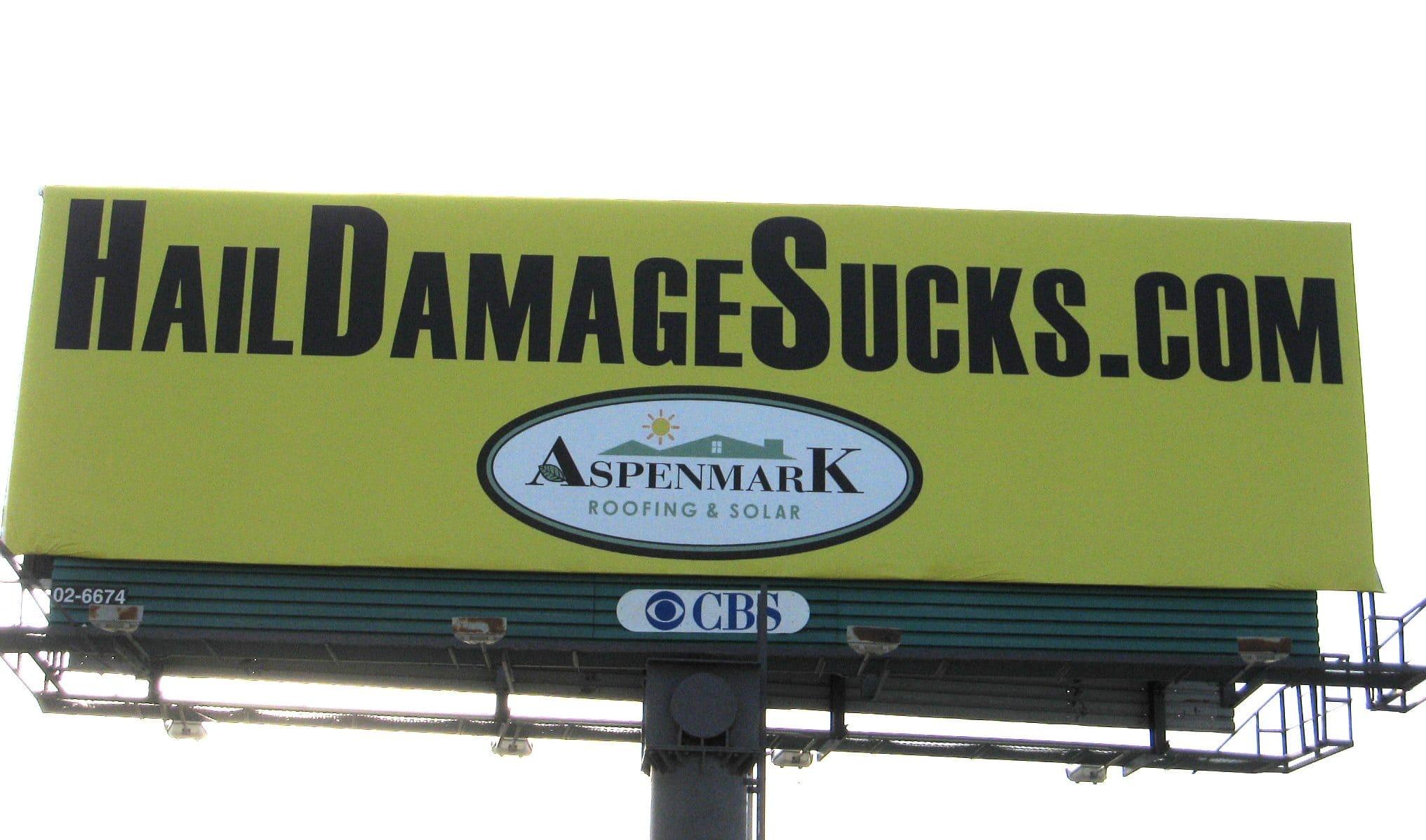 hail damage billboard